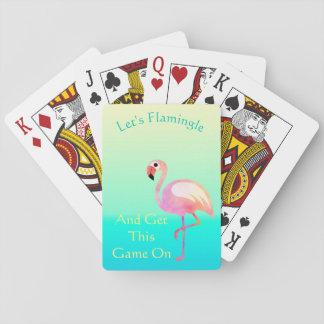 Baraja De Cartas Déjenos Flamingle y consiga a esto las tarjetas