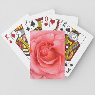 Baraja De Cartas Descensos rosados rojos románticos del agua color