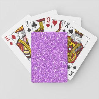 Baraja De Cartas Diamante de lujo brillante del brillo púrpura del
