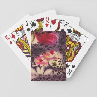 Baraja De Cartas Diseño púrpura del estampado leopardo de las