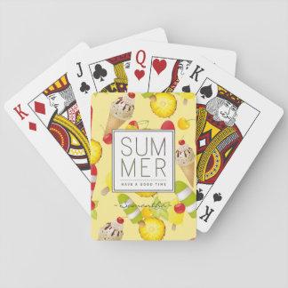Baraja De Cartas Diversión de las frutas y del helado del verano