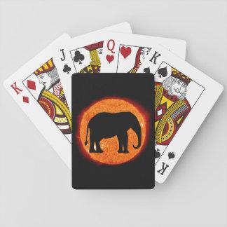 Baraja De Cartas Eclipse solar del elefante