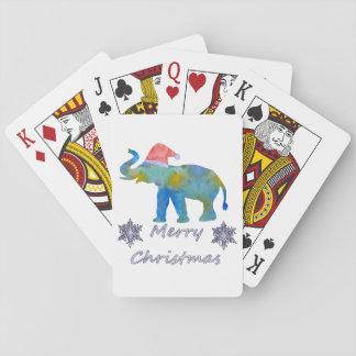 Baraja De Cartas Elefante del navidad