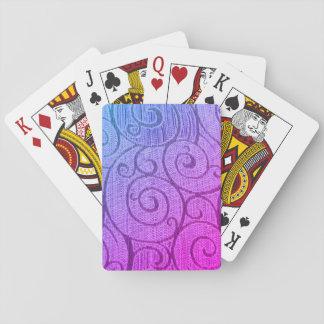 Baraja De Cartas Espiral abstracto púrpura