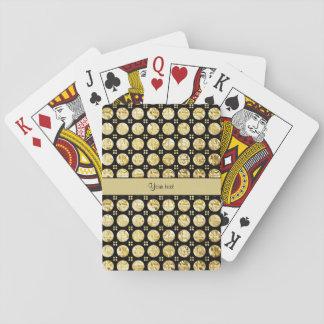 Baraja De Cartas Falsos botones del oro elegante