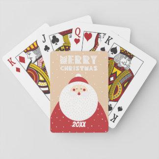 Baraja De Cartas Felices Navidad/diseño/naipes de Santa