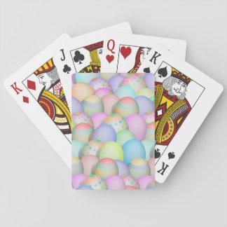 Baraja De Cartas Fondo coloreado de los huevos de Pascua