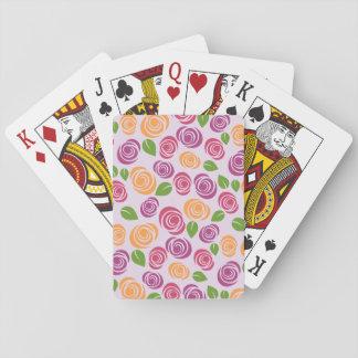 Baraja De Cartas Fondo floral bonito del color de la selección del