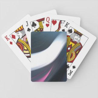 Baraja De Cartas Foto abstracta de rayas del blanco, del rosa y del
