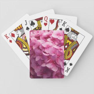 Baraja De Cartas Fotografía rosada de la flor del primer de la