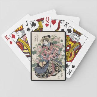 Baraja De Cartas Geisha de Eisen Ukiyo-e