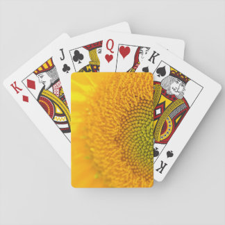 Baraja De Cartas Girasol floral amarillo