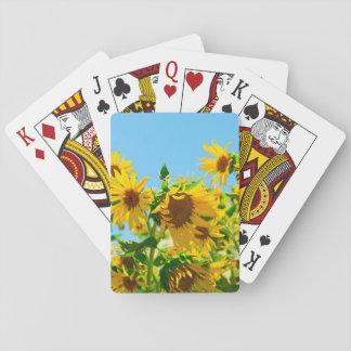 Baraja De Cartas Girasoles florales amarillos