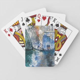 Baraja De Cartas Góndola en el Gran Canal de Venecia Italia