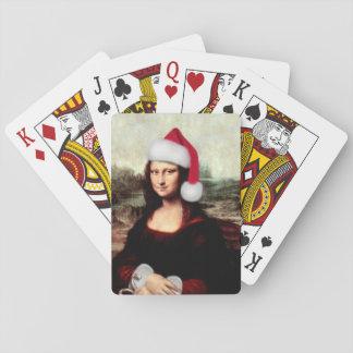 Baraja De Cartas Gorra de Santa del navidad de Mona Lisa