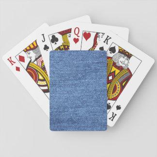 Baraja De Cartas Imagen blanca azul de la mirada de la textura del