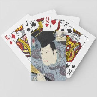 Baraja De Cartas Impresión de Woodblock del japonés de Arashi Rikan