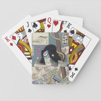 Baraja De Cartas Impresión de Woodblock del japonés por Kunichika