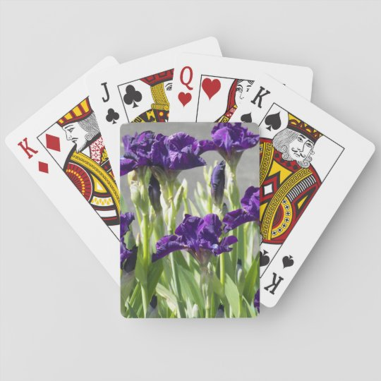 Baraja De Cartas Iris púrpuras florales