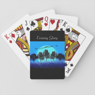 Baraja De Cartas Jugar Cards-Template_Evening Glory_