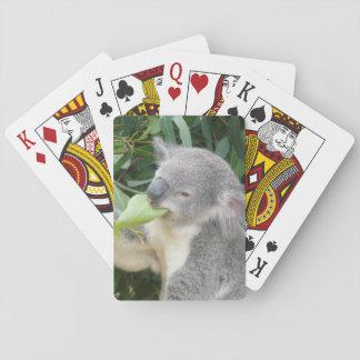 Baraja De Cartas Koala que come la hoja de la goma