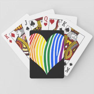 Baraja De Cartas La cebra del arco iris raya el corazón