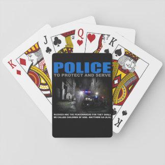 Baraja De Cartas La policía protege y sirve