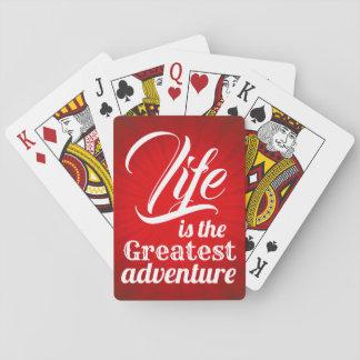 Baraja De Cartas La vida es la aventura más grande