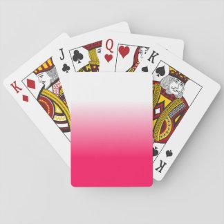 Baraja De Cartas Las mujeres se dirigen la decoración Ombre rosado