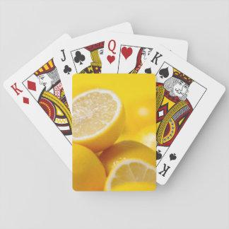 Baraja De Cartas Limones amarillos