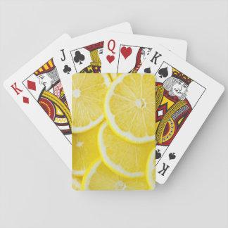 Baraja De Cartas Limones amarillos de la rebanada