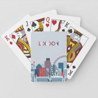 Baraja De Cartas Londres, Inglaterra horizonte rojo, blanco y azul