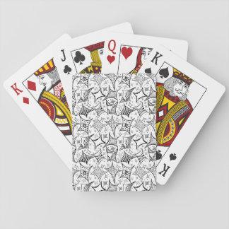 Baraja De Cartas modelo blanco y negro