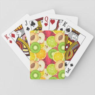 Baraja De Cartas Modelo colorido de la fruta de la diversión