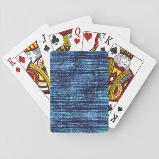 Baraja De Cartas Modelo del tejano azul oscuro