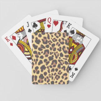 Baraja De Cartas Modelos de la piel animal del estampado leopardo