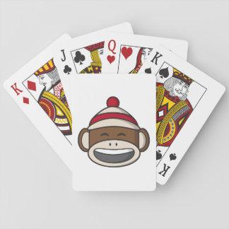 Baraja De Cartas Mono grande Emoji del calcetín de la sonrisa