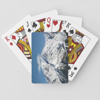 Baraja De Cartas Mt. Blanc con las nubes
