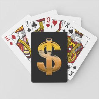 Baraja De Cartas Muestra de dólar de la pendiente de Brown