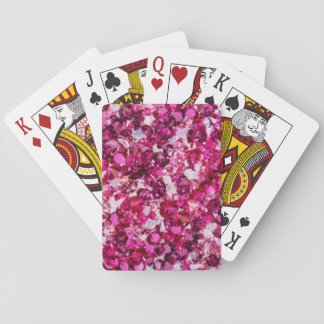 Baraja De Cartas Multicolor Diamomds rosado