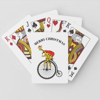 Baraja De Cartas Navidad de Papá Noel de la jirafa