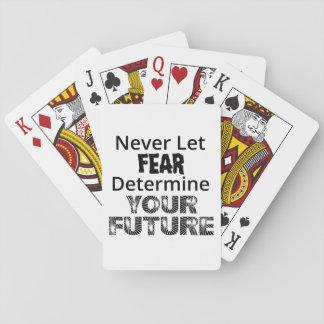 Baraja De Cartas Nunca deje el miedo