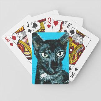 Baraja De Cartas ~ oriental del gato del humo del negro del ~ del