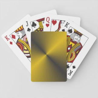 Baraja De Cartas Oro negro y vibrante