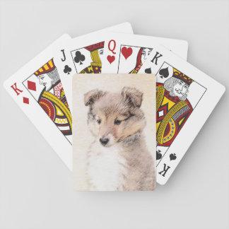 Baraja De Cartas Perrito del perro pastor de Shetland