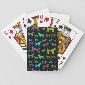 Baraja De Cartas Perros del arco iris en negro