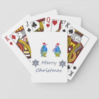 Baraja De Cartas Pingüinos del navidad