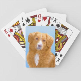Baraja De Cartas Pintura tocante del perro del perro perdiguero del