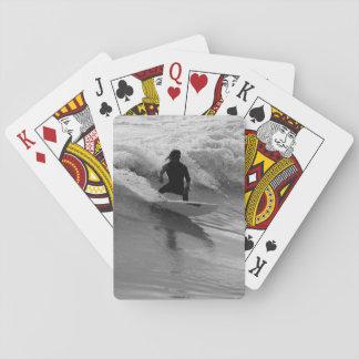 Baraja De Cartas Practicar surf el Grayscale de las ondas