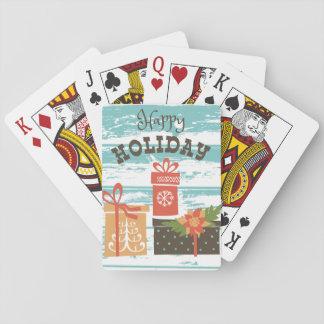 Baraja De Cartas Presentes felices del día de fiesta del navidad
